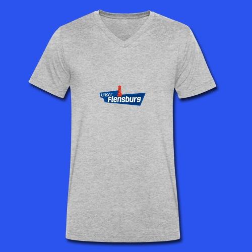 Unser Flensburg - Männer Bio-T-Shirt mit V-Ausschnitt von Stanley & Stella