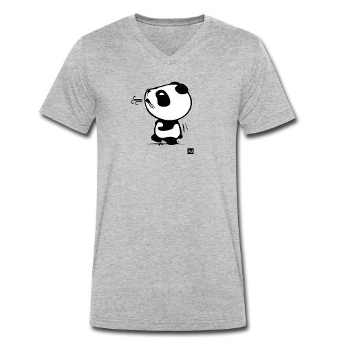 Panda run - T-shirt bio col V Stanley & Stella Homme