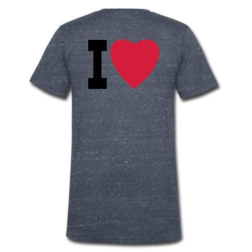 create your own I LOVE clothing and stuff - Men's Organic V-Neck T-Shirt by Stanley & Stella