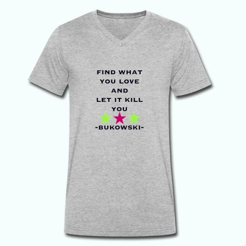 bukowski - Men's Organic V-Neck T-Shirt by Stanley & Stella