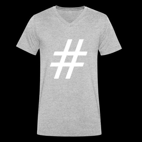 Hashtag Team - Männer Bio-T-Shirt mit V-Ausschnitt von Stanley & Stella