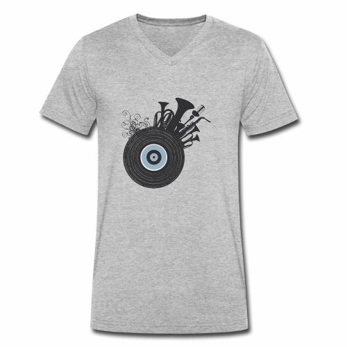 Live in Music - T-shirt ecologica da uomo con scollo a V di Stanley & Stella