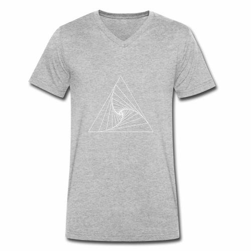 Triangle white - T-shirt bio col V Stanley & Stella Homme