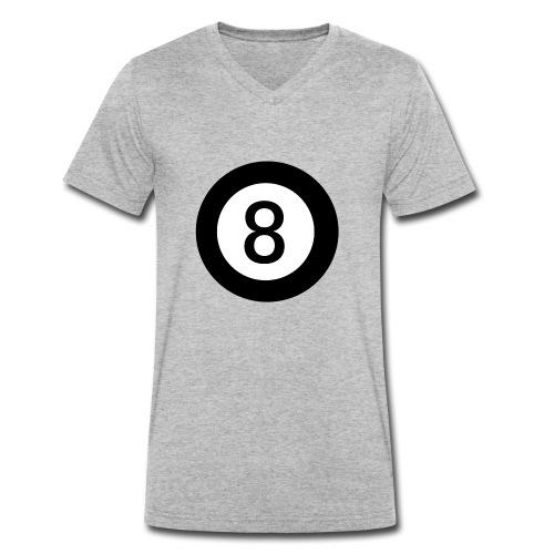 Black 8 - Men's Organic V-Neck T-Shirt by Stanley & Stella