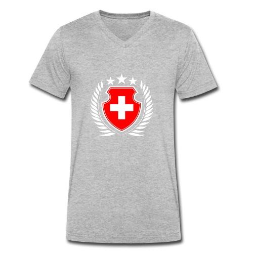 Schweiz - Männer Bio-T-Shirt mit V-Ausschnitt von Stanley & Stella