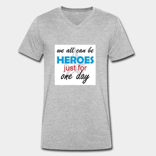 GHB Jeder kann ein Held sein 190320183w - Männer Bio-T-Shirt mit V-Ausschnitt von Stanley & Stella