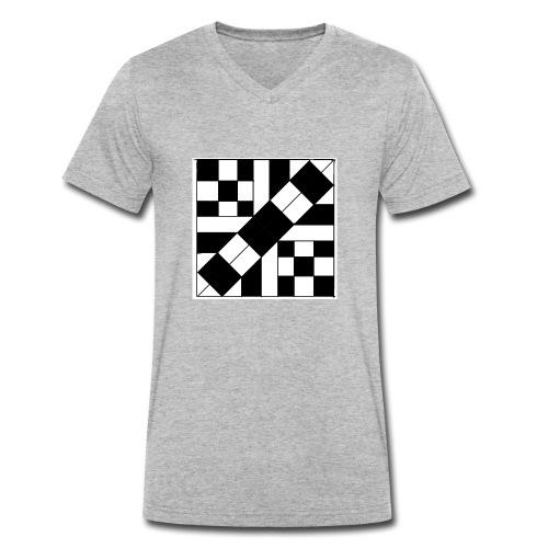 checker patterned art - Men's Organic V-Neck T-Shirt by Stanley & Stella