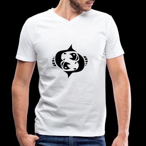 STERNZEICHEN FISCH - Männer Bio-T-Shirt mit V-Ausschnitt von Stanley & Stella