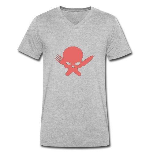 Skull Collection | FatLadFood - Men's Organic V-Neck T-Shirt by Stanley & Stella