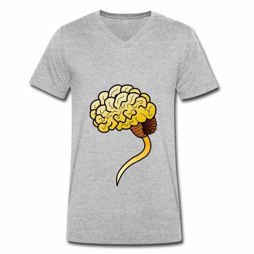 Brain - Männer Bio-T-Shirt mit V-Ausschnitt von Stanley & Stella