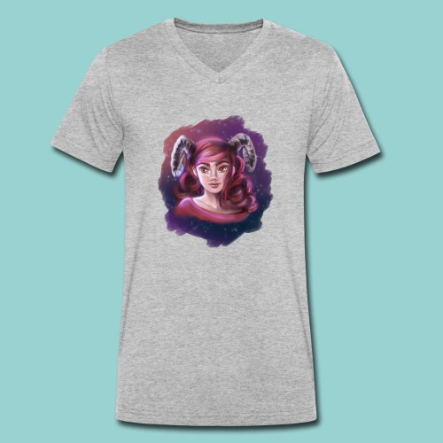 Artsy horns - Männer Bio-T-Shirt mit V-Ausschnitt von Stanley & Stella