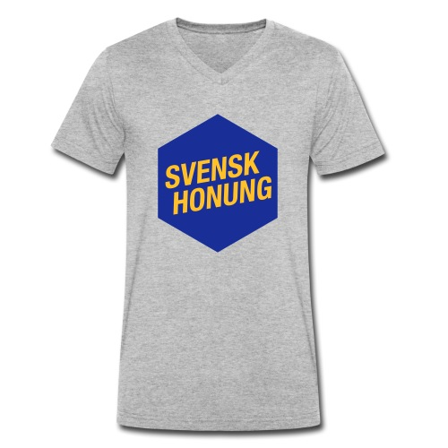 Svensk honung Hexagon Blå/Gul - Ekologisk T-shirt med V-ringning herr från Stanley & Stella