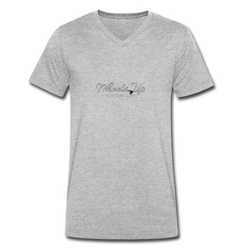 wheels up black figure - Men's Organic V-Neck T-Shirt by Stanley & Stella