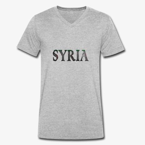 Free syria - Ekologisk T-shirt med V-ringning herr från Stanley & Stella