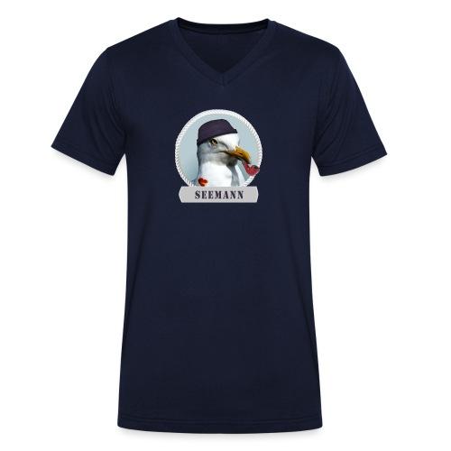 Seemann - Männer Bio-T-Shirt mit V-Ausschnitt von Stanley & Stella