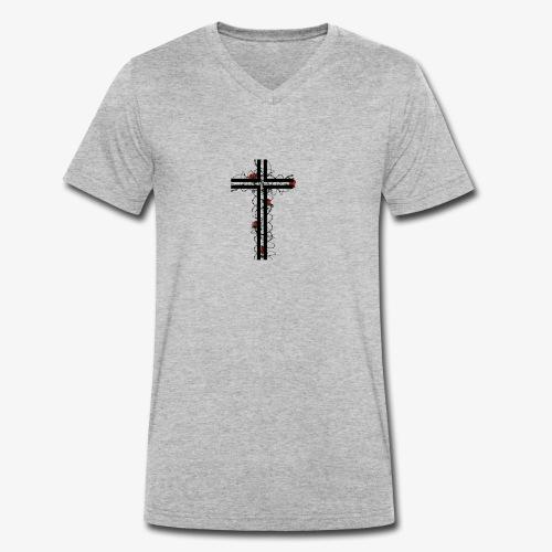 HYPE CROSS - T-shirt ecologica da uomo con scollo a V di Stanley & Stella