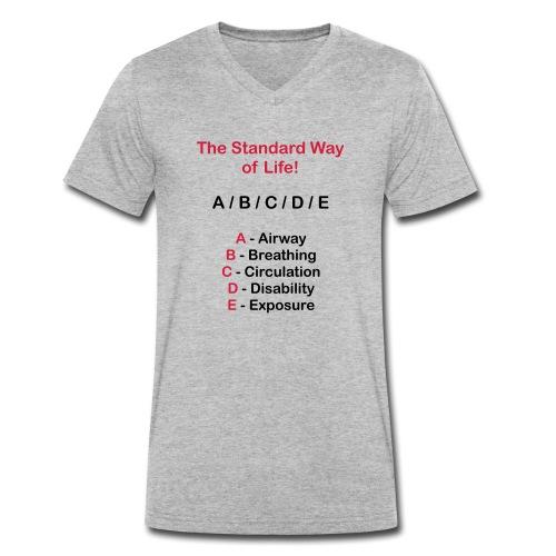 Rettungsdienst ABC Schema - Männer Bio-T-Shirt mit V-Ausschnitt von Stanley & Stella