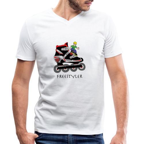 Roller fresstyler - T-shirt bio col V Stanley & Stella Homme