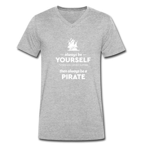 Be a pirate! (light version) - Men's Organic V-Neck T-Shirt by Stanley & Stella