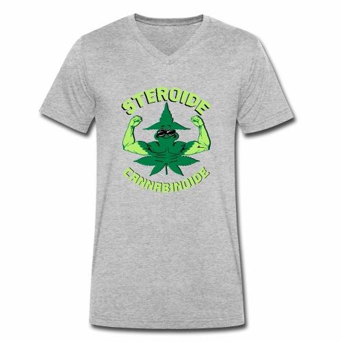 Cannabis Steroid - Männer Bio-T-Shirt mit V-Ausschnitt von Stanley & Stella