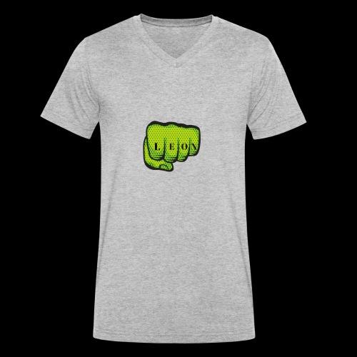 Leon Fist Merchandise - Men's Organic V-Neck T-Shirt by Stanley & Stella