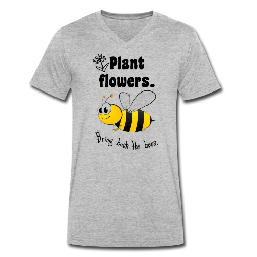 Bees8 - Bring the bees back! | Book Rebels - Men's Organic V-Neck T-Shirt by Stanley & Stella