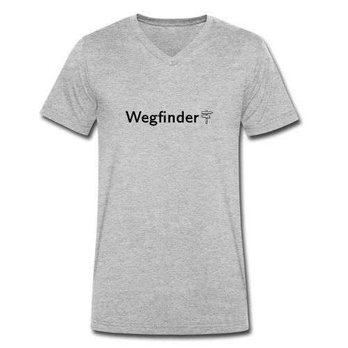 Wegfinder, schwarz - Männer Bio-T-Shirt mit V-Ausschnitt von Stanley & Stella