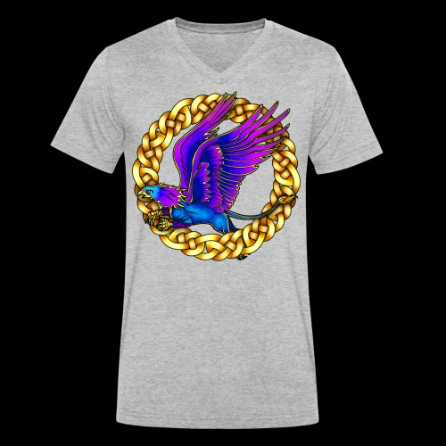 Royal Gryphon - Men's Organic V-Neck T-Shirt by Stanley & Stella