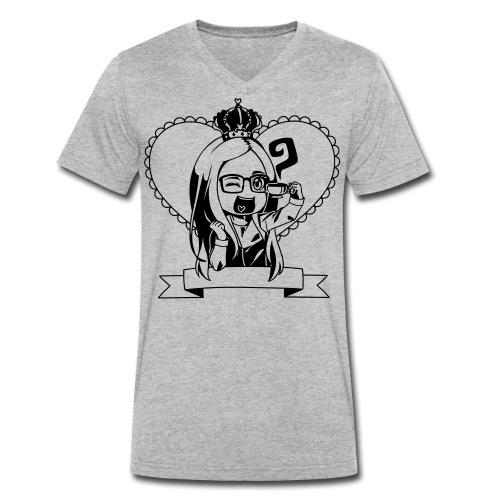 Kaja i tryk - Økologisk Stanley & Stella T-shirt med V-udskæring til herrer