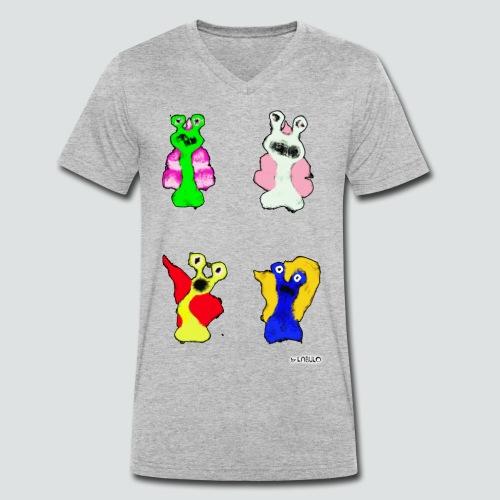 4 Snails 2 png - Männer Bio-T-Shirt mit V-Ausschnitt von Stanley & Stella