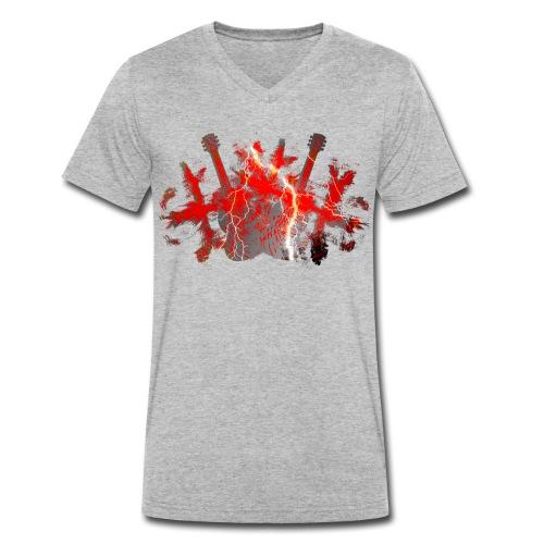 Lightning - Männer Bio-T-Shirt mit V-Ausschnitt von Stanley & Stella