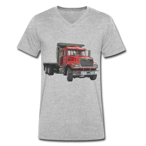 Flat Truck 3-axle - Red - Men's Organic V-Neck T-Shirt by Stanley & Stella