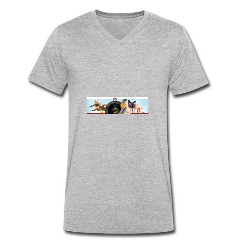 Animaux logo - Mannen bio T-shirt met V-hals van Stanley & Stella