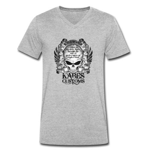 Kabes Tiptoe T-Shirt - Men's Organic V-Neck T-Shirt by Stanley & Stella