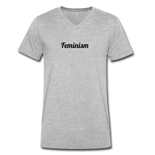Feminism - Camiseta ecológica hombre con cuello de pico de Stanley & Stella