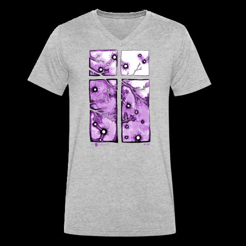 Für immer und ein Tag (violett) - Männer Bio-T-Shirt mit V-Ausschnitt von Stanley & Stella