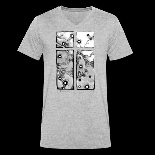 Für immer und ein Tag (grau) - Männer Bio-T-Shirt mit V-Ausschnitt von Stanley & Stella