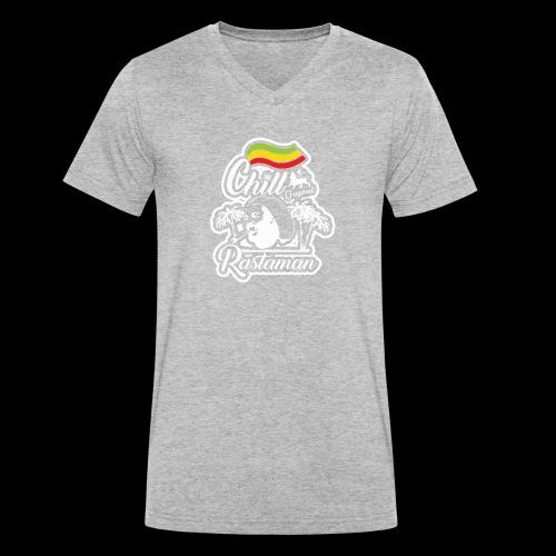 artfull dodger Chill Rastaman White version - T-shirt bio col V Stanley & Stella Homme
