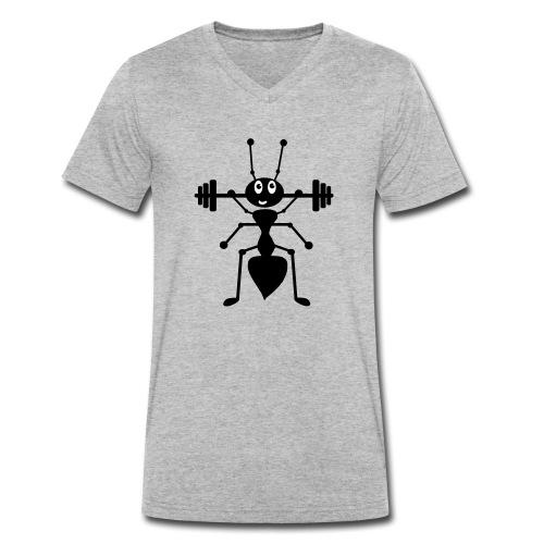 Ameise_schwarz_1 - Männer Bio-T-Shirt mit V-Ausschnitt von Stanley & Stella