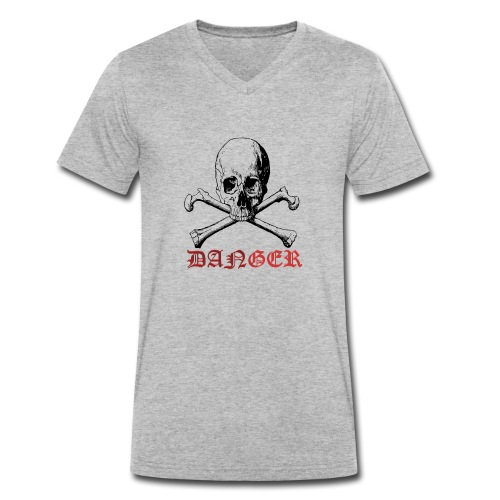 skull bone - Men's Organic V-Neck T-Shirt by Stanley & Stella
