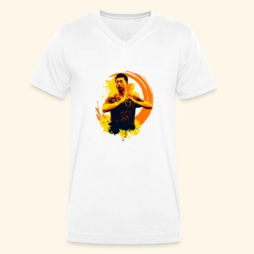 I heart table tennis championship - Männer Bio-T-Shirt mit V-Ausschnitt von Stanley & Stella