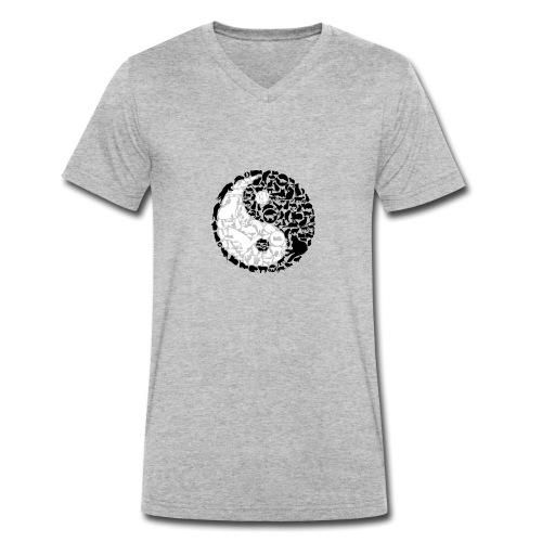 YinYang Cats - Männer Bio-T-Shirt mit V-Ausschnitt von Stanley & Stella