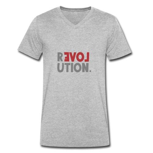 Revolution Love Sprüche Statement be different - Männer Bio-T-Shirt mit V-Ausschnitt von Stanley & Stella
