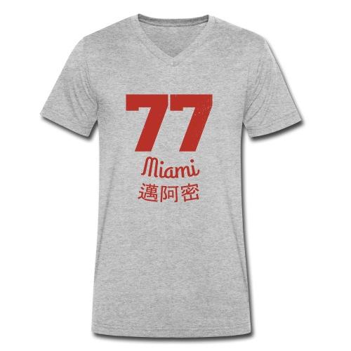 77 miami - Männer Bio-T-Shirt mit V-Ausschnitt von Stanley & Stella