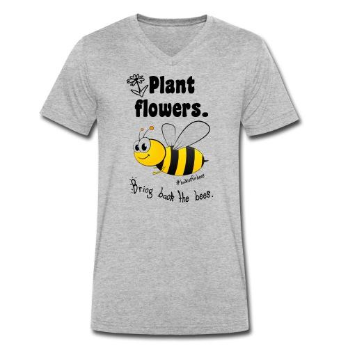 Bees8-1 Bringt die Bienen zurück! | Bookrebels - Men's Organic V-Neck T-Shirt by Stanley & Stella