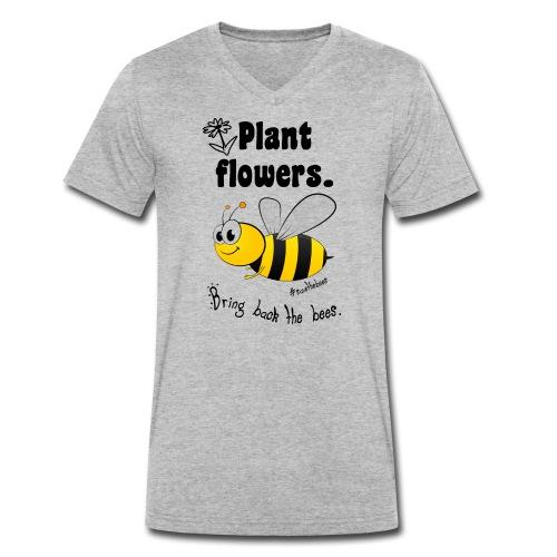 Bees8-2 Bringt die Bienen zurück!   Bookrebels - Men's Organic V-Neck T-Shirt by Stanley & Stella