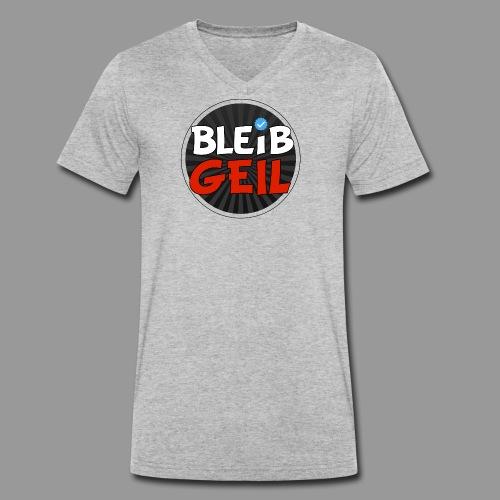 BleibGeil RotSchwarz - Männer Bio-T-Shirt mit V-Ausschnitt von Stanley & Stella