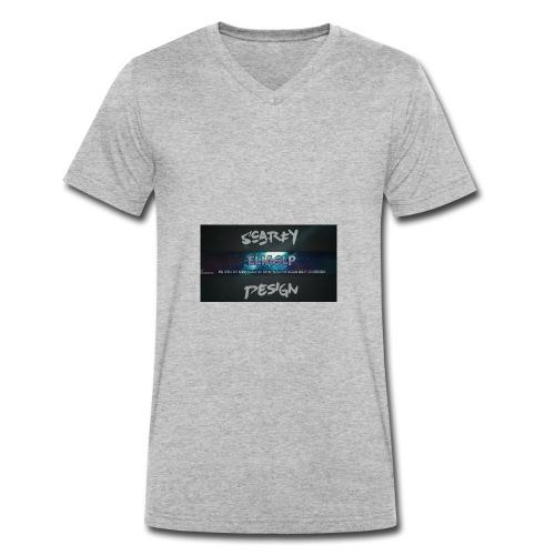 Scarfy Design ELIASLP - Männer Bio-T-Shirt mit V-Ausschnitt von Stanley & Stella