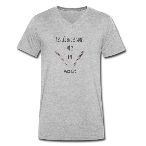 les légendes sont nées en août - T-shirt bio col V Stanley & Stella Homme
