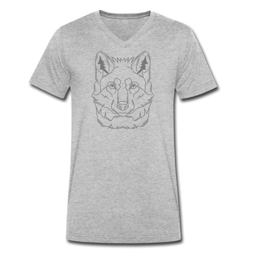 Grey Wolf - Männer Bio-T-Shirt mit V-Ausschnitt von Stanley & Stella